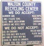 Walton County Recycling sign